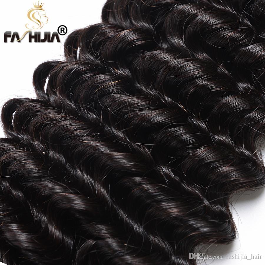 Brazilian deep wave with closure mink brazilian virgin hair with closure curly hair with closure tight curls deep wave brazilian hair