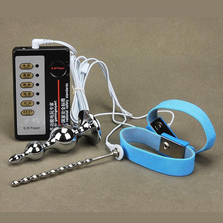 Luvas Elásticas Massageadores Elétricos de Choque Elétrico Anal Pénis kit de brinquedo temático médica, 2016 Mais Novo Condutor Electro Condutor Estim Luvas Condutivas