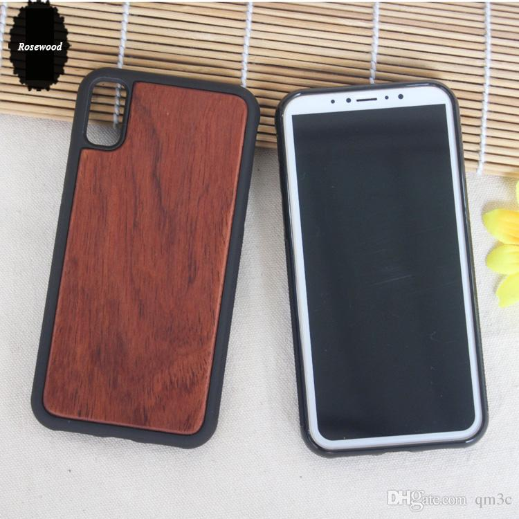 Engraving Wood Phone Cases For Iphone X 8 6 6s 7 plus Handmade Wooden Bamboo iphone Cover For Samsung S8 Plus S7 S6 edge DHL Free