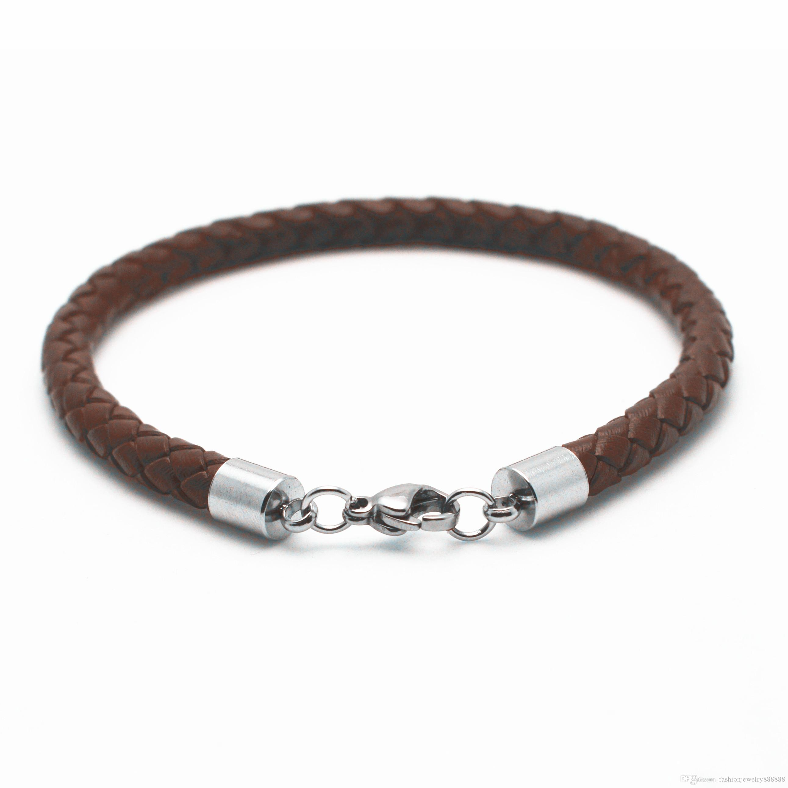 clasp vincero luxury dress silver rose bracelet italian watches bangle gold s men brown mens products mocha strap double the bangles croc leather braided