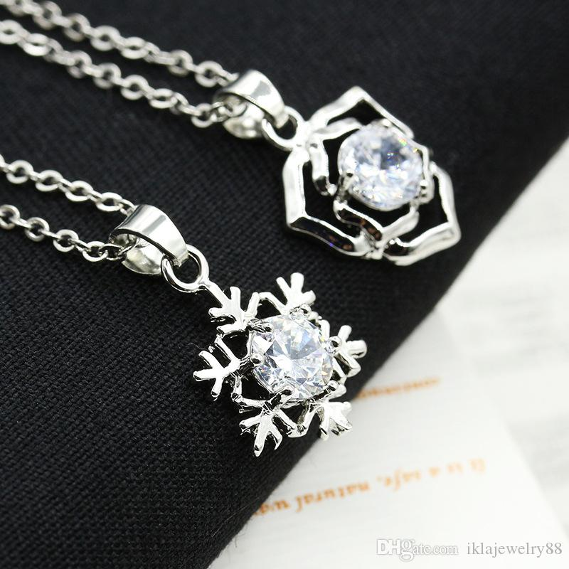 8 Style New Hot Love necklace set auger snowflakes necklace Crown eagle butterfly necklace for women