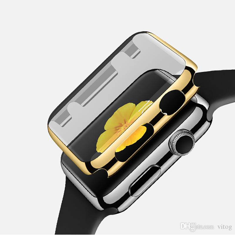 Electroplate Screen Protector Case for Apple Watch 2/1 38MM 42MM Series 1 2 Accessories With Opp Bag