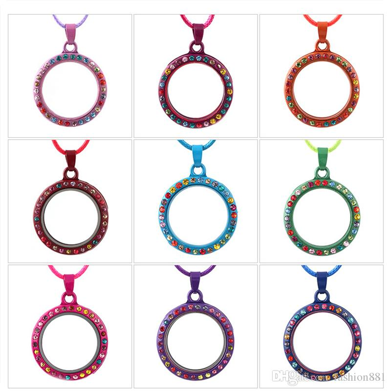 Top Grade Fashion Floating Locket DIY colorful Glass Frames Floatings Charms Lockets Pendants Jewelry Wholesale Free Ship