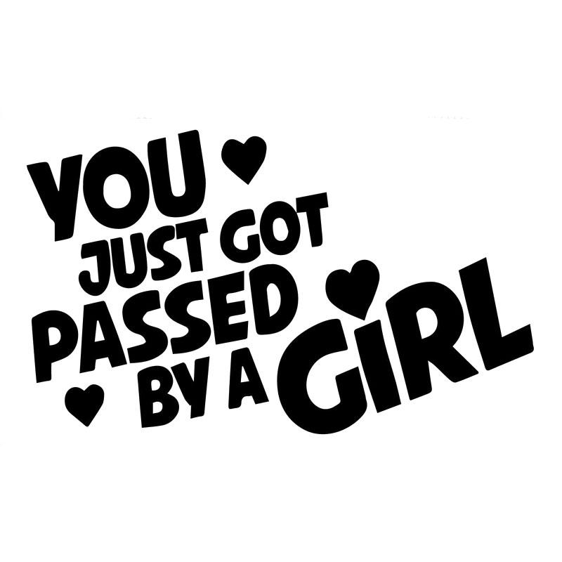 12 7cm7 8cm passed by a girl decal funny vinyl car decals car stickers motorcycle decoration passed by a girl girl car stickers online with 43 72 piece on