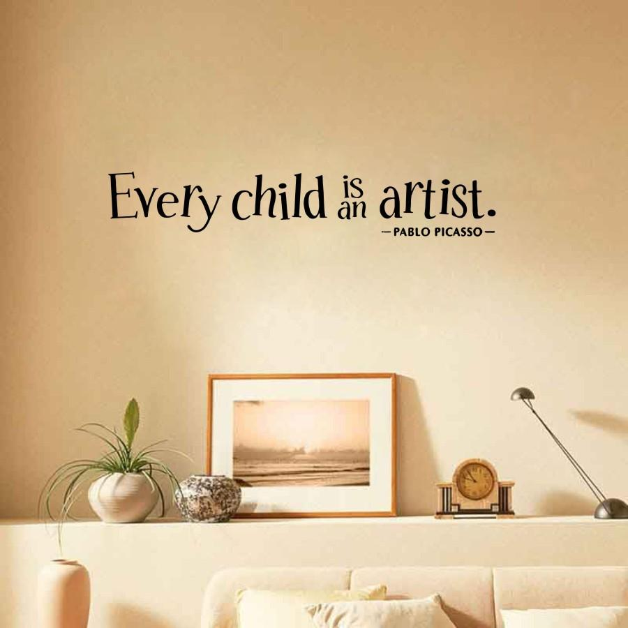 Qf1 Every Child Is An Artist Romantic Removable Vinyl Decals ...