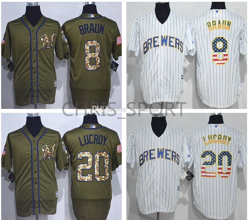 mlb jersey 2017 milwaukee brewers player cool base jerseys salute to service 8 ryan braun 20 jonathan lucroy