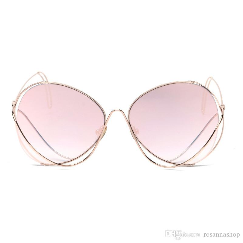 cfe3e3dca3d Fashion Eyewear Transparent Lens Brand Designer Fashion Clear Eyeglasses  Women Mirror Sunglasses Vintage Lady Sun Glasses YW086 Cheap Designer  Sunglasses ...