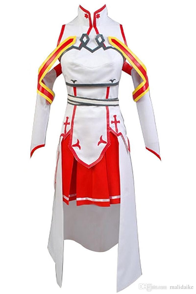 Malidaike Anime 여자의 검 예술 온라인 Asuna Cosplay 복장 복장 복장 복장