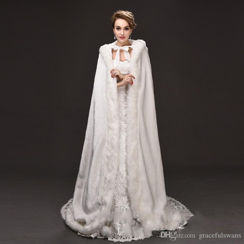 2018 Winter Wedding Dress Accessories Jackets Long With