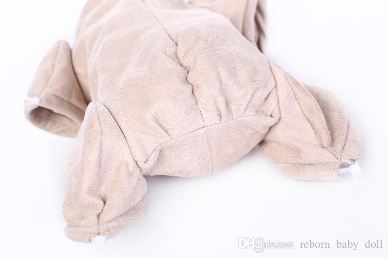 reborn Doe Suede Body for doll kit 3/4 arms and legs and cloth body