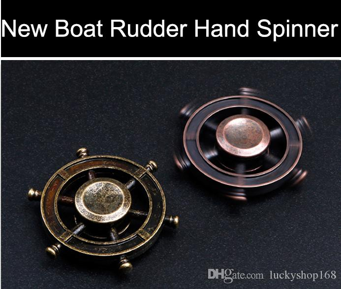 2017 New Boat Rudder Hand Spinner Edc De pression Toy Helmsman