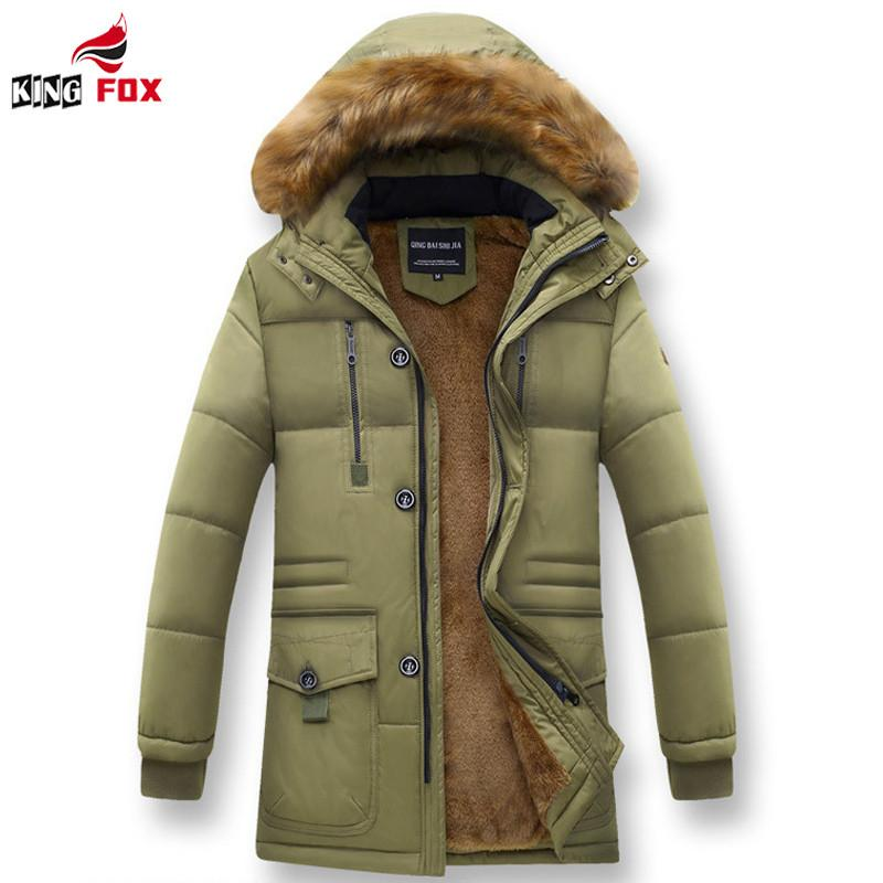 62e2edc47 Wholesale- New fashion winter jacket men Cotton-Padded down parka warm  thicken Detachable Cap with fur hood male coat size M~4XL