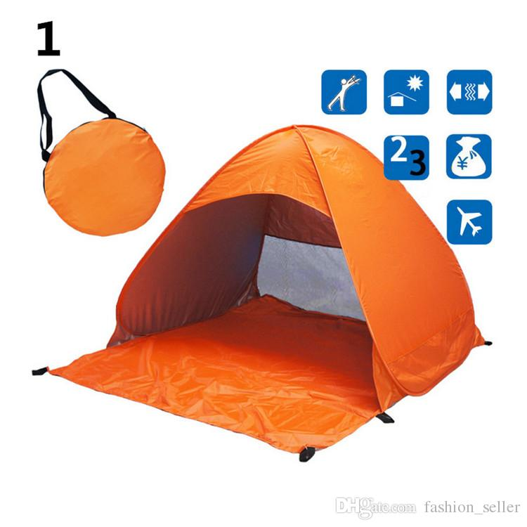 Outdoors Tents Quick Automatic Opening 50+ UV Protection Outdoor Gear Camping Shelters Tent Beach Travel Lawn Multicolor