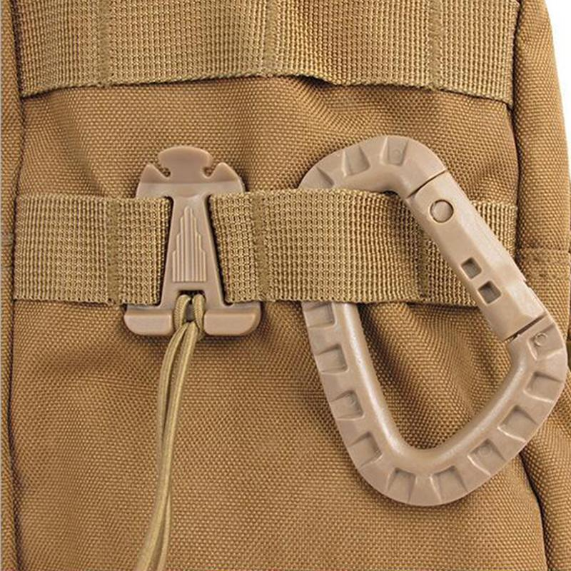 Outdoor D Shape Buckle Placstic Carabiner Clip Climbing Camping Buckle Fast Hang Keychain Hook