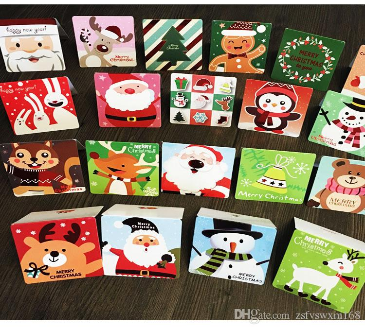 Children 's Creative Cartoon Christmas Card New Year' s Birthday Holiday Gift Universal Card Envelope Cardboard Greeting Card