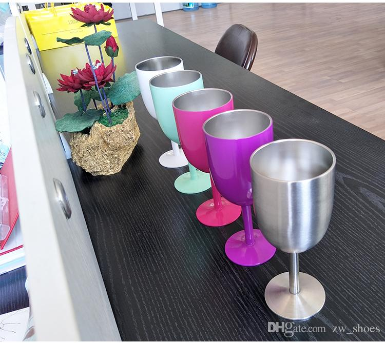 2017 new 10oz Stainless Steel Wine Glass Vacuum Insulated wine Goblet coketail glasses Drinkware in stock