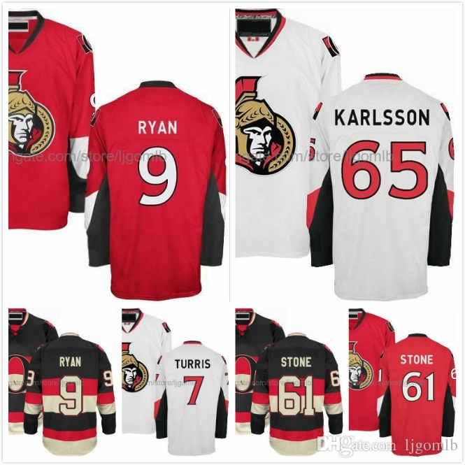 the best attitude 0e9c2 83273 Kyle Turris Jersey 7 Mark Stone 61 Bobby Ryan 9 Erik Karlsson 65 Ice Hodkey  Jerseys Ottawa Senators Full Stitched S-3XL