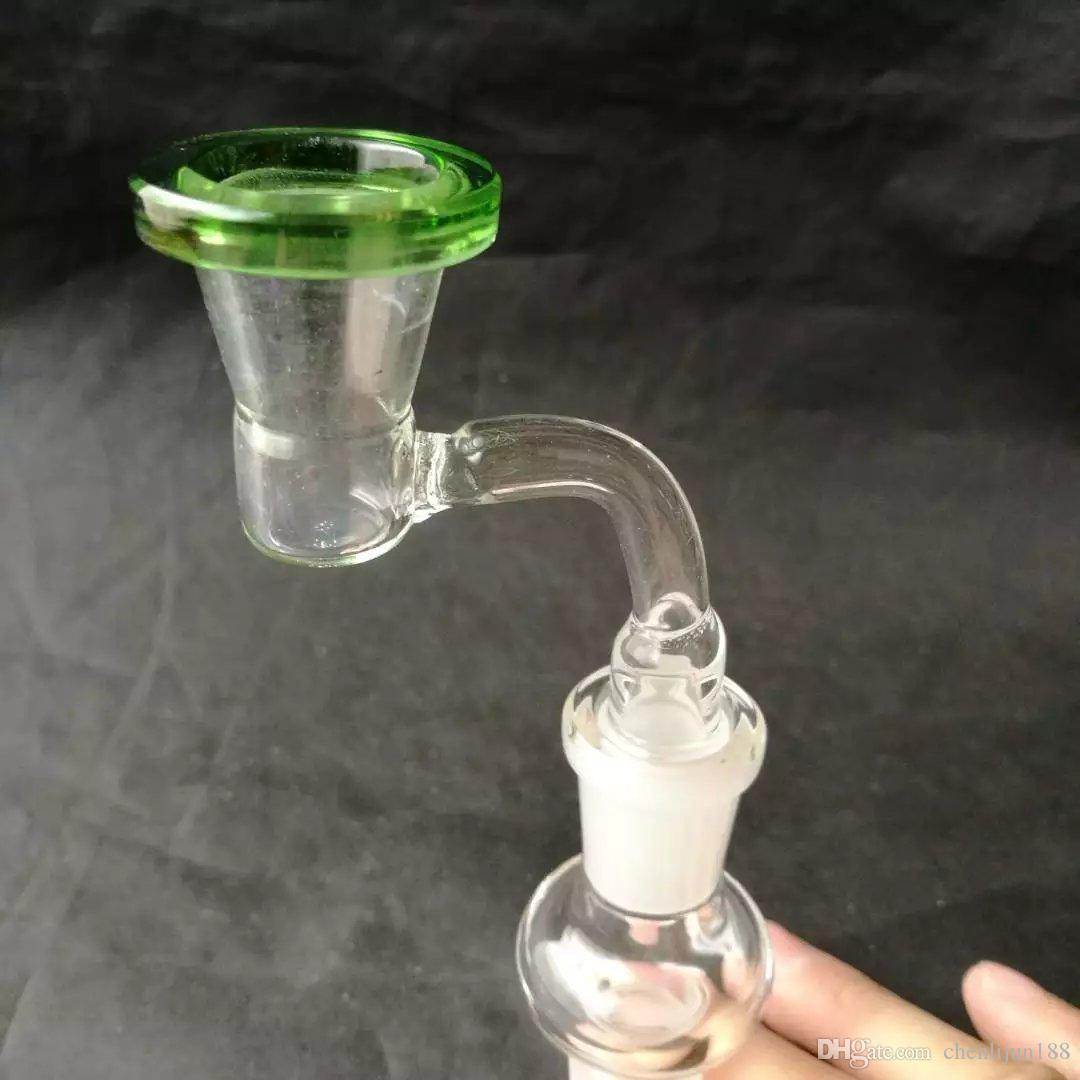 Two color adapter with gun accessories , Water pipes glass bongs hooakahs two functions for oil rigs glass bongs