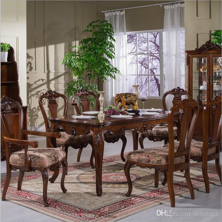 Antique Style Italian Dining Table, 100% Solid Wood Italy Style Luxury  Marble Dining Table Set P10282 Dining Table Dinner Table Online With  $1608.05/Piece ...