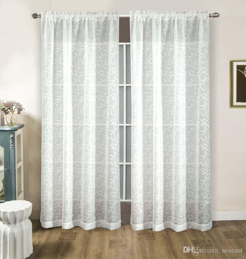 Trendy Fashion Chiffon Gauze Gossamer Tulle Voile Room Door Sheer Window Curtains Floral Allover Printed Curtain Sheer Curtains