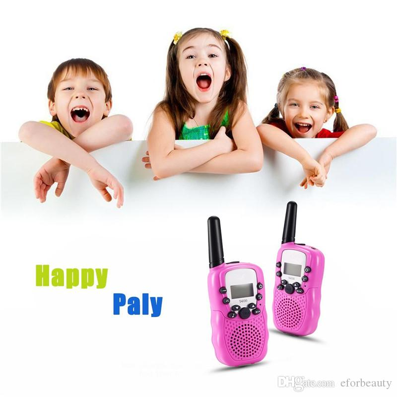 =Child Kids Walkie Talkie Parenting Game Mobile Phone Telephone Talking Toy 5-8KM Range For Kids Christmas Gifts