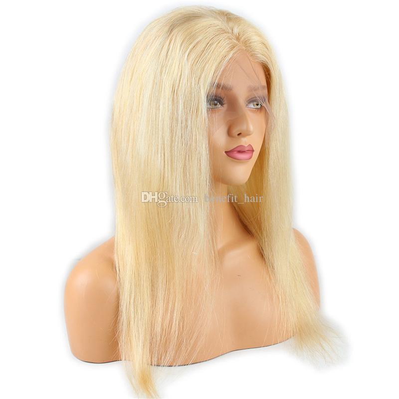 قبل التقطه 360 كامل الرباط الأمامي مع حزم الشعر ابيض عقدة شقراء 613 حريري مستقيم الشعر 3 حزم مع 360 أمامي إغلاق