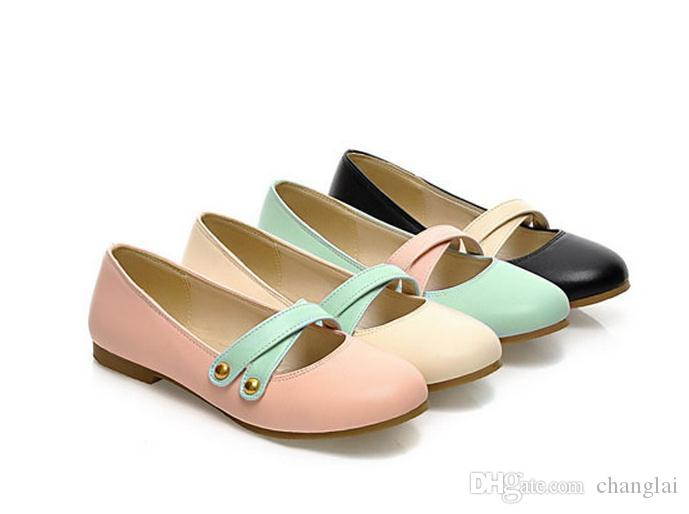 The new spring sweet pale mouth flat shoes hit single shoe covers foot female shoes FuRuiSource