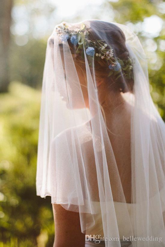 عالية الجودة الحجاب الزفاف مع قطع حافة 1.5 متر / 2 متر / 3 متر / 5 متر طبقة واحدة تول الأبيض / العاج أنيقة hotselling الزفاف الحجاب الزفاف # VL003B