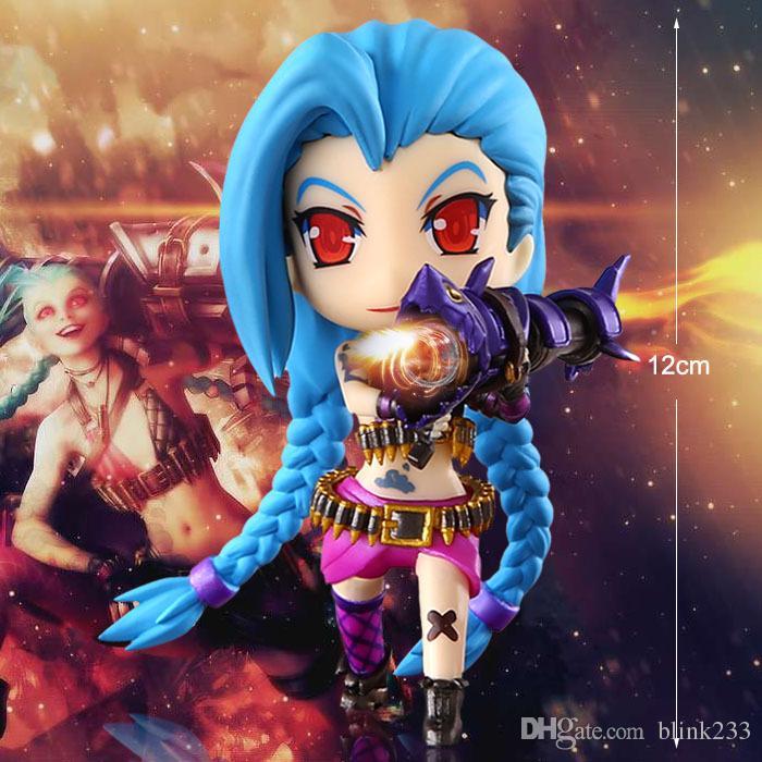 2017 New LOL league of legends figure Figure Cute Jinx Q jinx PVC Anime LOL Action Figures Model Toys