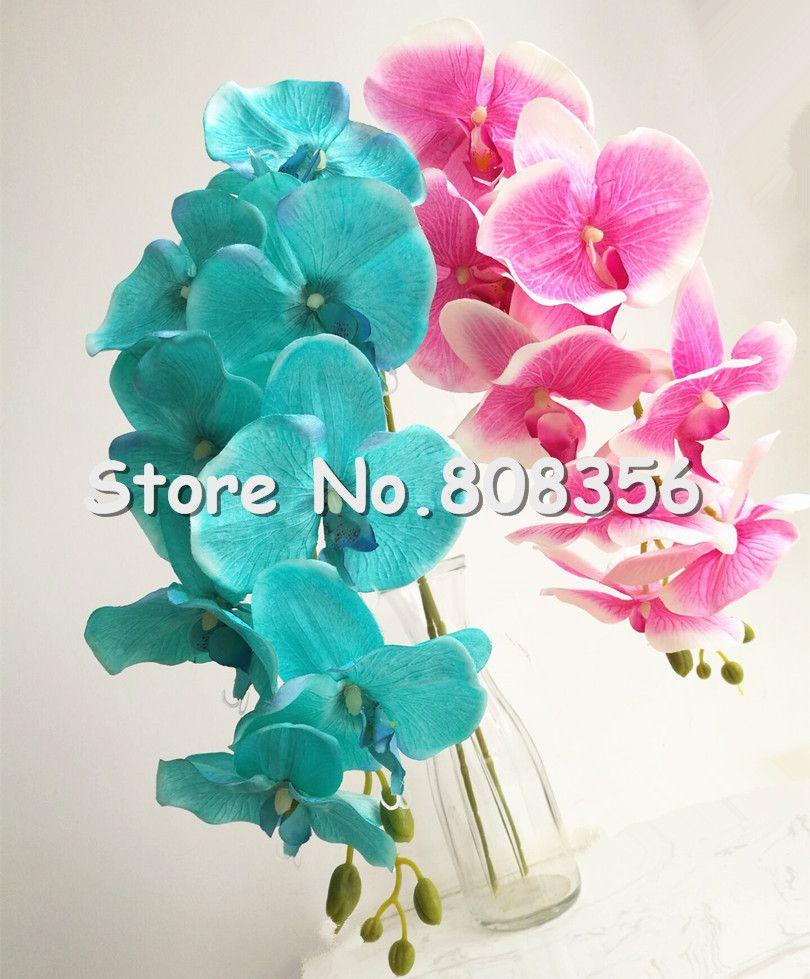 Поддельные орхидеи 108 см длинный стебель Весна Орхидея искусственные Флоерс орхидеи Фаленопсис для дома Рождество партии витрина украшения