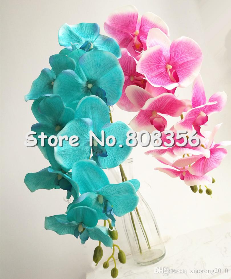 2018 Fake Orchid 108cm Long Stem Spring Orchid Artificial Floers
