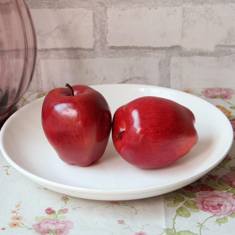 / Rouge Delicious Plum / Snake fruits Mousse Artificielle Faux Fruits Pour La Maison De Mariage Cognitive Toy Table À Manger Décorations De Noël Moule