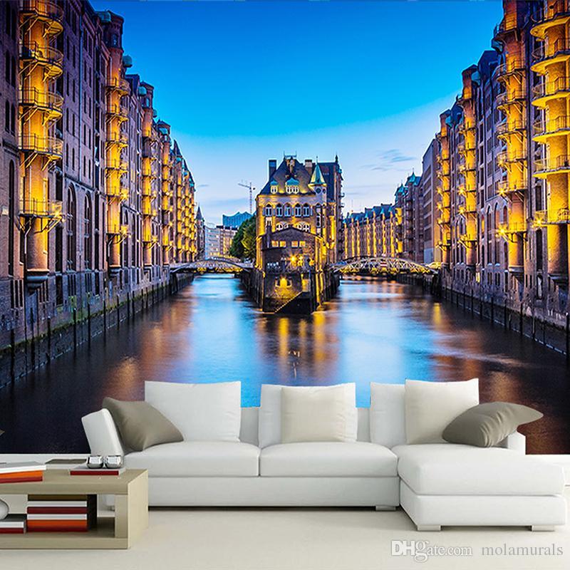 3d Photo Wallpaper Landscape Background TV Sofa Bedroom