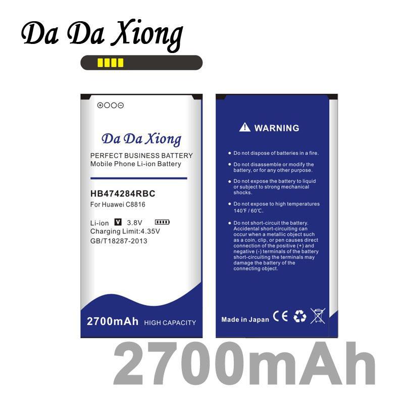 Da Da Xiong 2700mAh HB474284RBC Battery for Huawei C8816 C8816D C8817L G615  G620