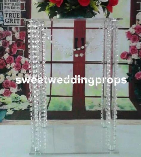 Acrylic Centerpieces Crystal Wedding Flower Stand Centerpiece