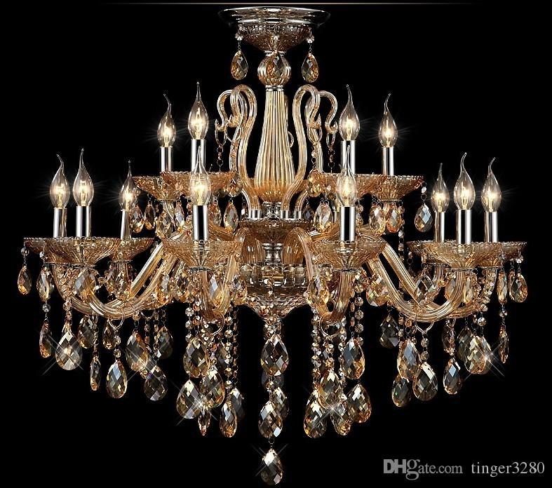 Antique Candle Chandeliers Champagne Crystal Chandelier: Champagne Candle Crystal Chandeliers,Crystal Chandelier