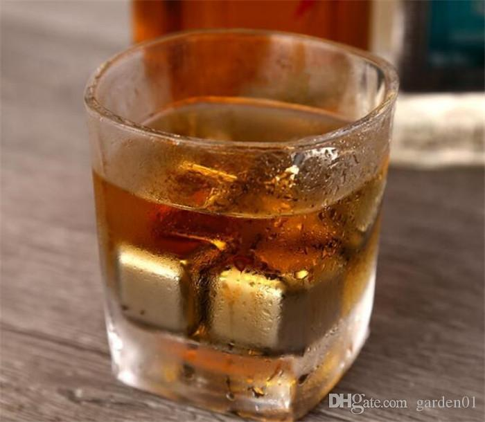 Stainless Steel Ice Cube Wine Whiskey Beer Cooler Stones Rock Soapstone Glacier Rock Beer Freezer Chillers Drink Cooler Cube G098