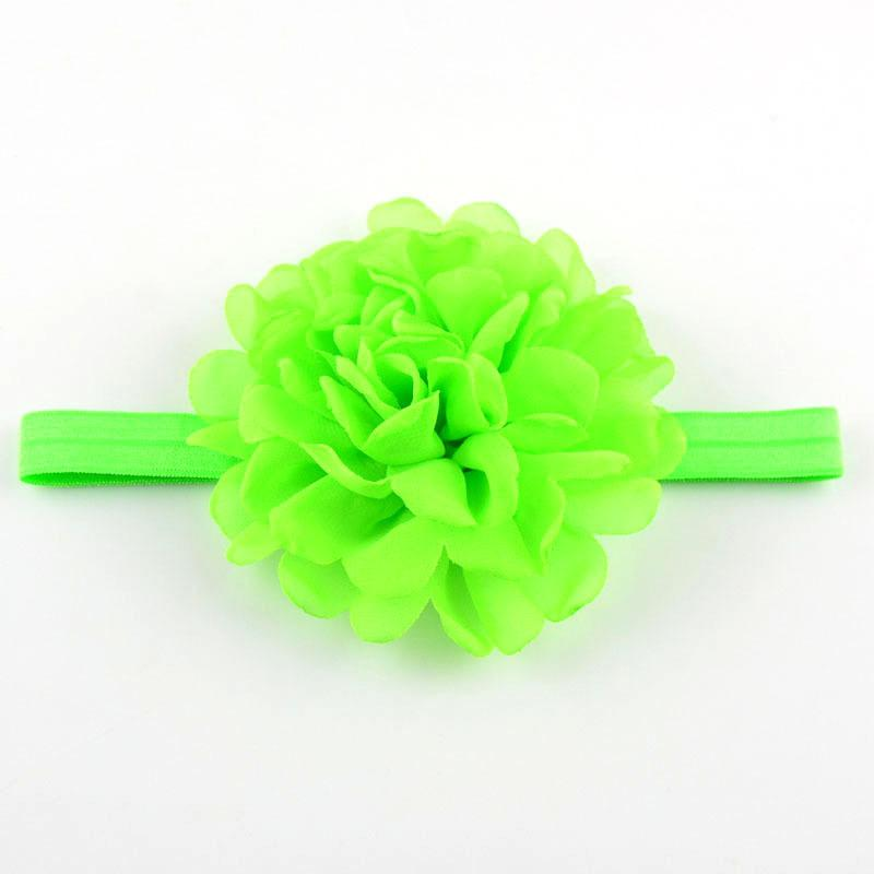 Pretty Chiffon Roast Side Flower Baby Girl Hairband Elastic Headband Kids Children DIY Hair Crafts Accessories FD165