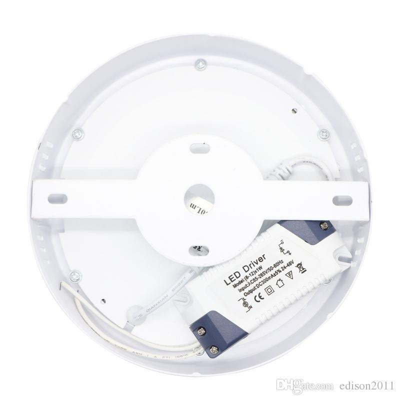 No 12W Cut freddo montato Led da incasso pannello rotonda della luce SMD ultra sottile verso il basso soffitto lampada della cucina
