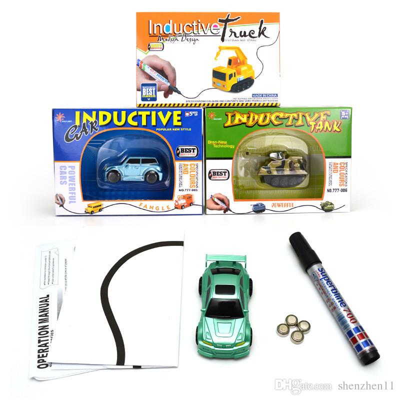 Creative Gift for Child MINI Magic Pen Inductive Fangle Vechicle Children's CAR Truck Tank Toy Car OTH067