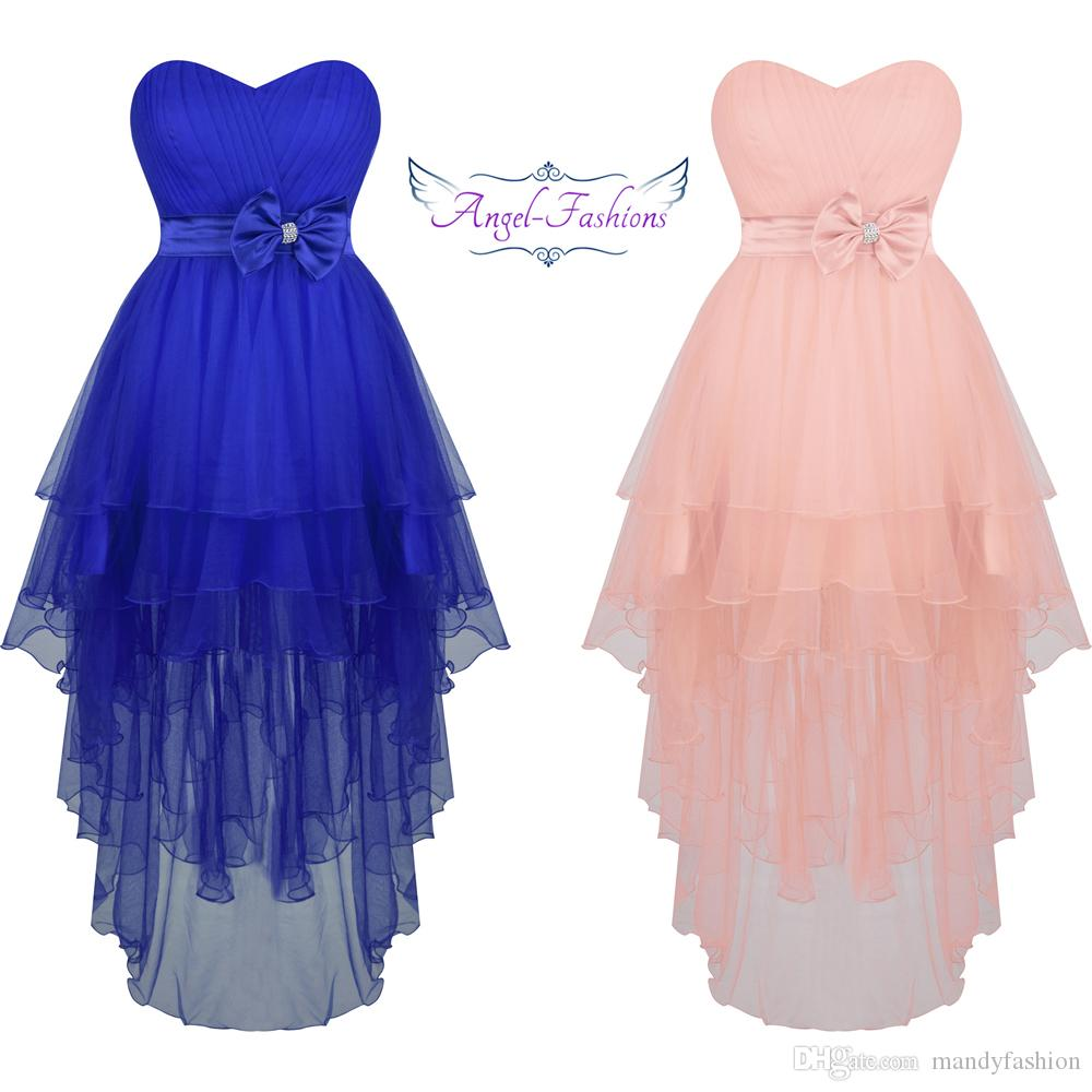 Compre Angel Fashions Mujeres Sweetheart Plisado Tulle Alto Bow Bow ...
