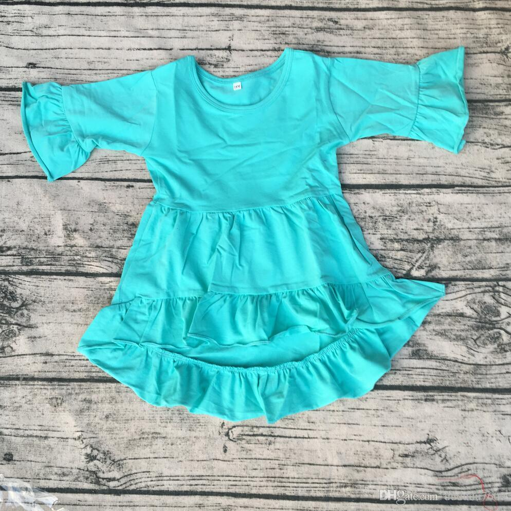 db62b4143 New Style High Low Kid Long Sleeve Dress Wholesale Baby High Quality ...