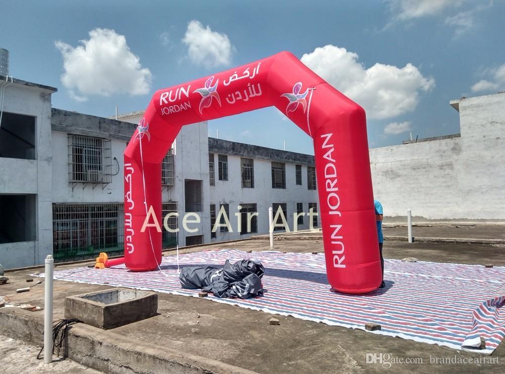 2018 новый конструированный раздувной свод рекламы, полный красный сводчатый проход, финишная линия старта для бега ночи Италии