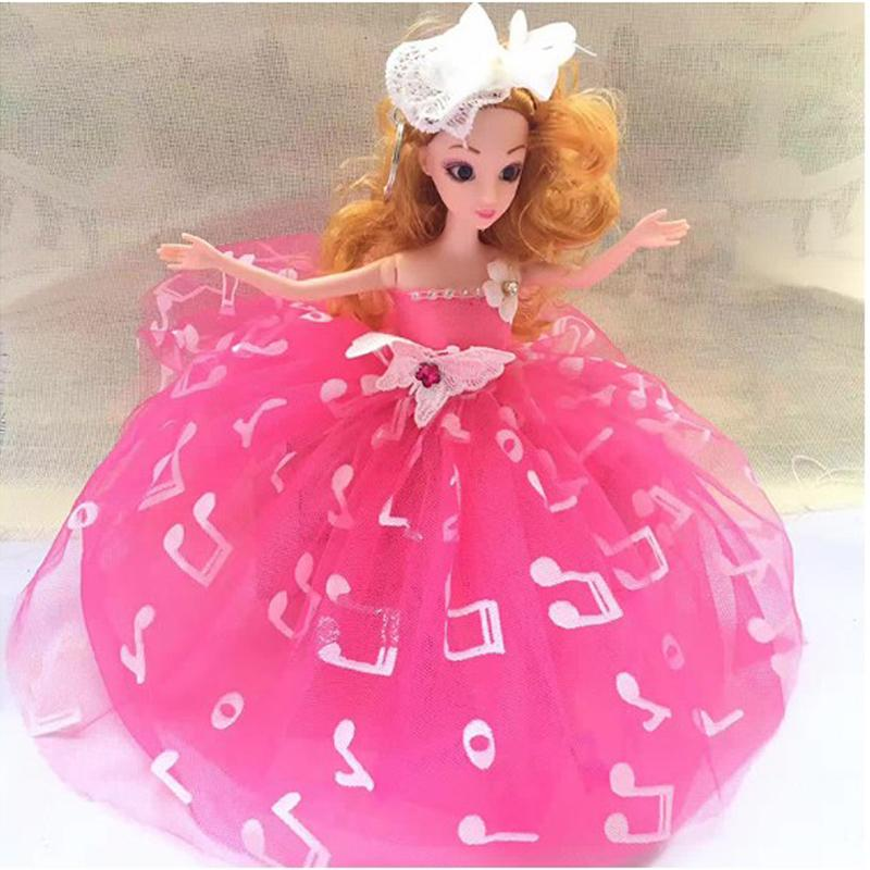 New Car Ornaments 30CM Doll with Wedding Dress for Girls Cute Bobby Doll Christmas Gifts