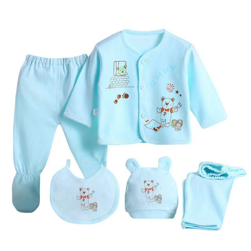 2a7282387026 2019 Wholesale Newborn Baby Clothing Set Baby Boys Girls Cotton ...
