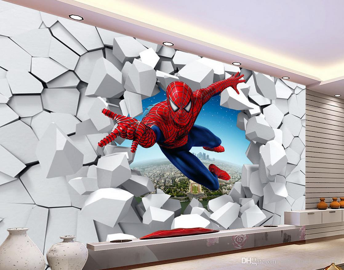 3d brick wall cartoon decoration painting background wall for 3d mural art in india