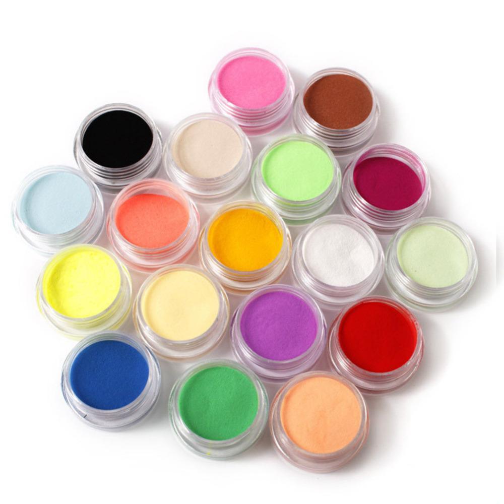 24 In 1 Art Acrylic Powder Liquid Glitter Cuticle Oil Buffer Block ...
