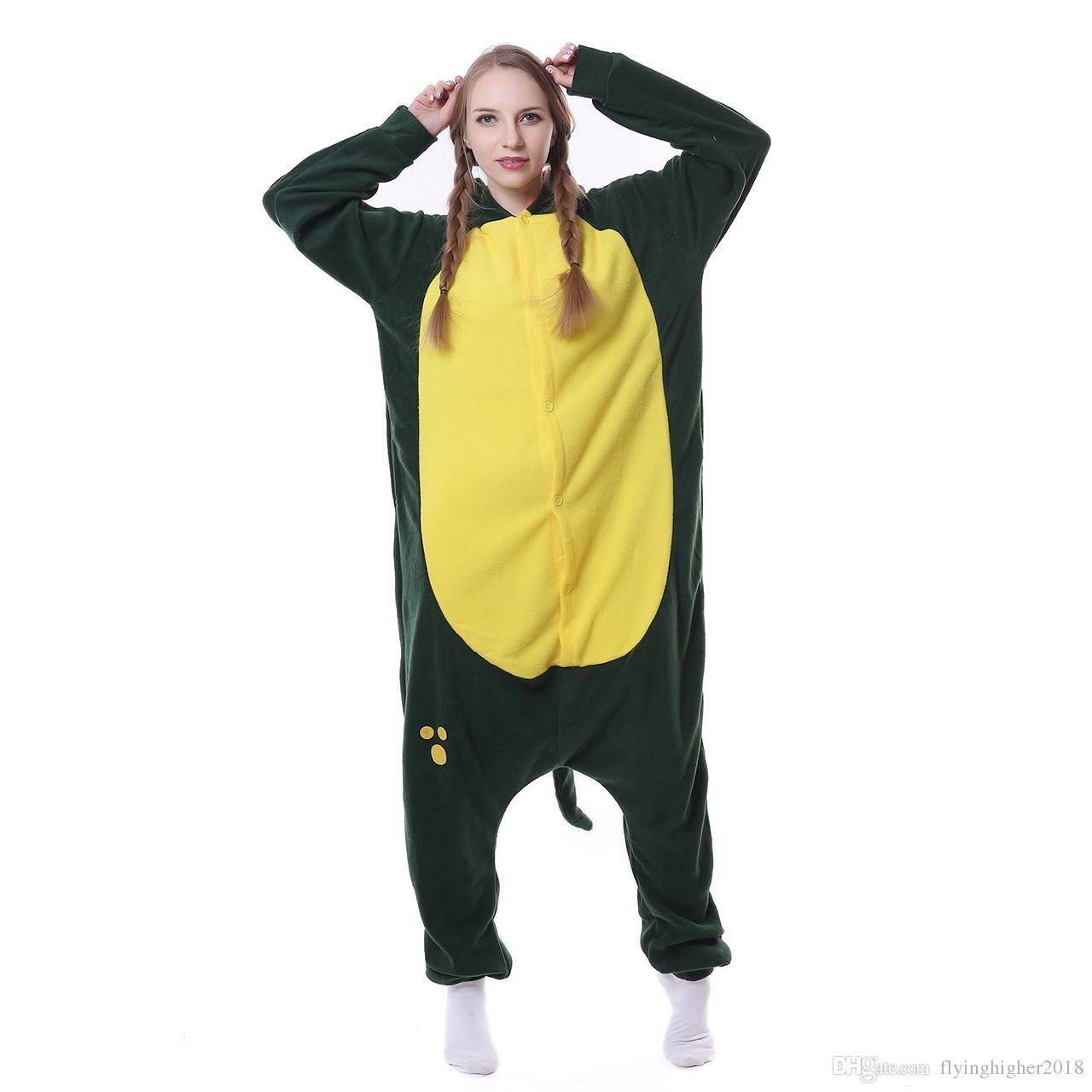 귀여운 동물 Pyjama 여성 후드 악어 잠옷 세트 할로윈 코스프레 의류 양털 홈 수면 착용 유니섹스