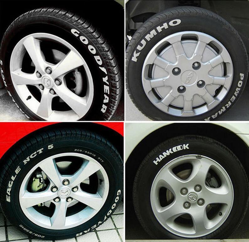 Weiß Permanent Auto Reifen Marker Stift Lack Motorrad Motorrad Universal Wasserdichte Metall Lauffläche Gummi Lackstift