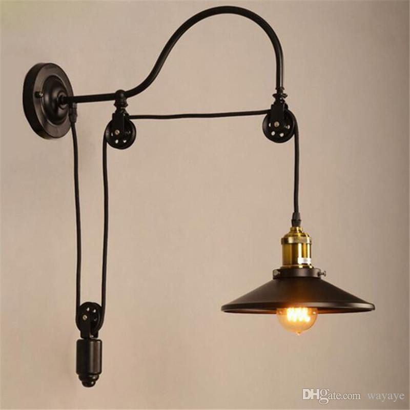 2018 Industrial Retro Vintage Wall Lamp Adjustable With
